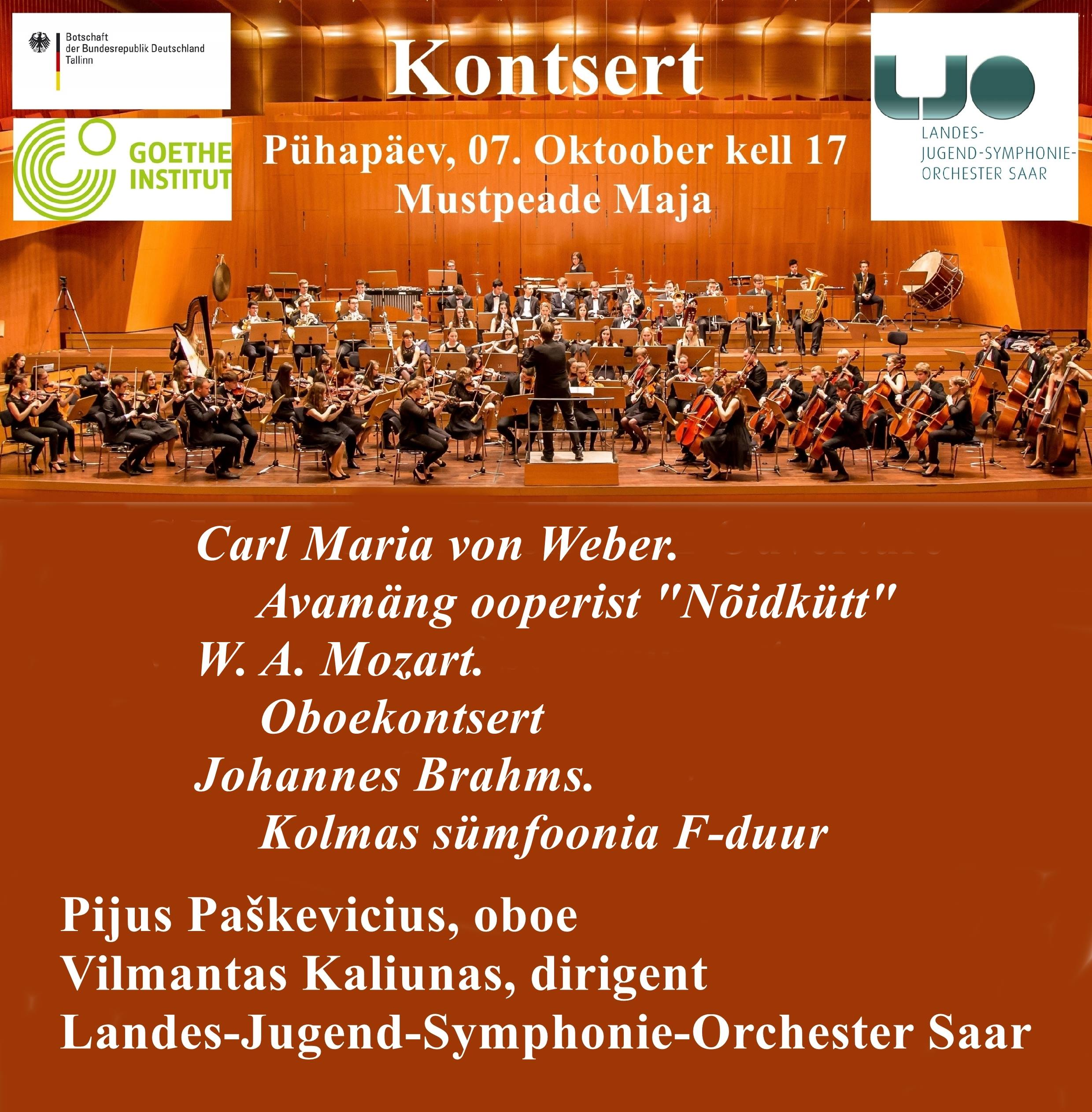 Saksamaa Noorte Sümfooniaorkestri kontsert