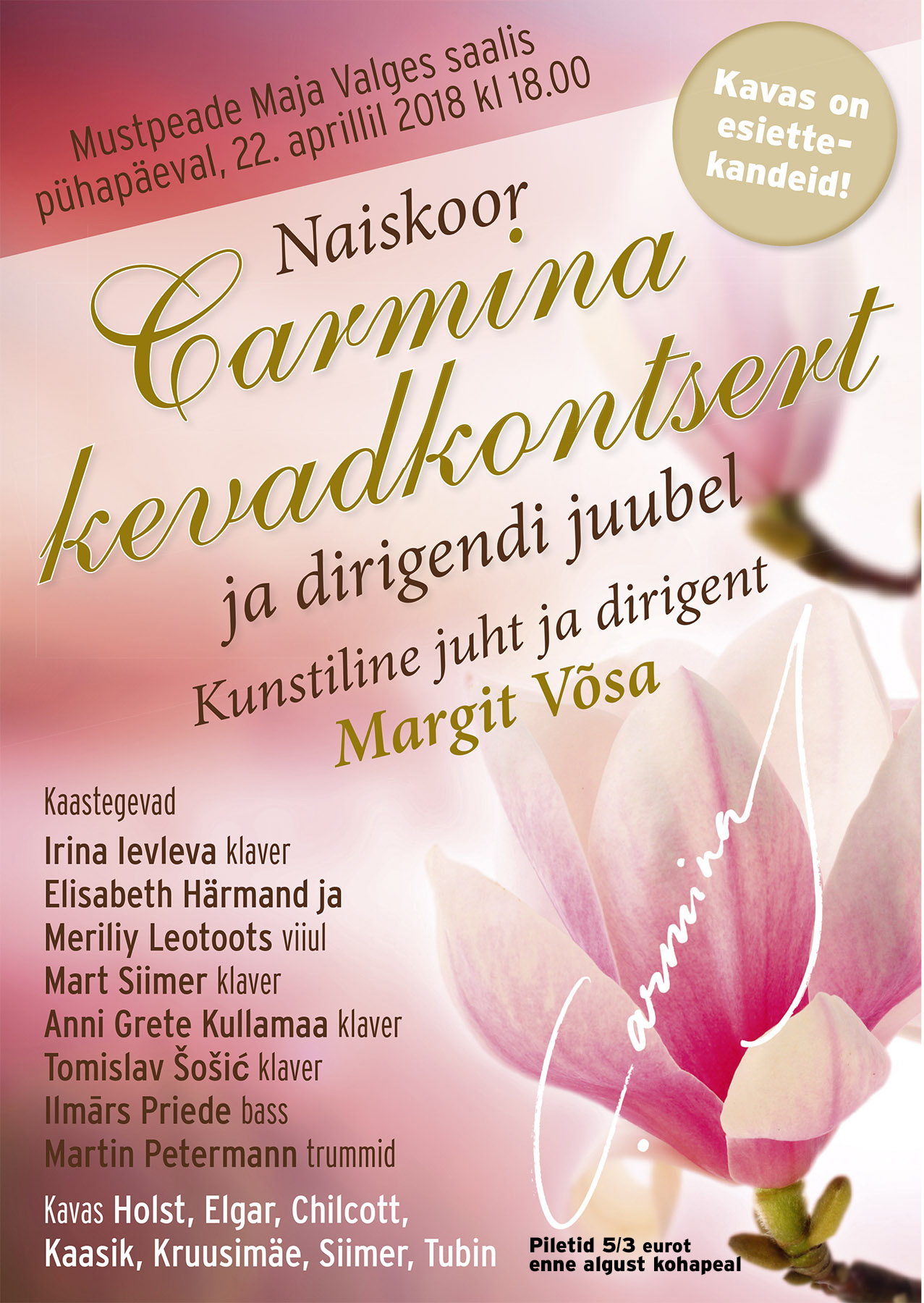 Naiskoor Carmina Kevadkontsert