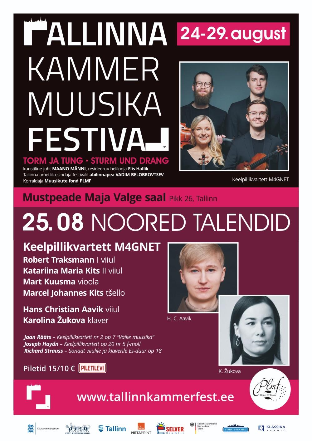 Keelpillikvartett M4GNET / Tallinna Kammermuusika Festival