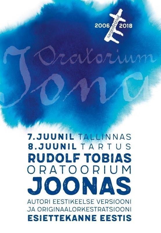 Rudolf Tobiase oratoorium JOONAS / Nargenfestival 2018