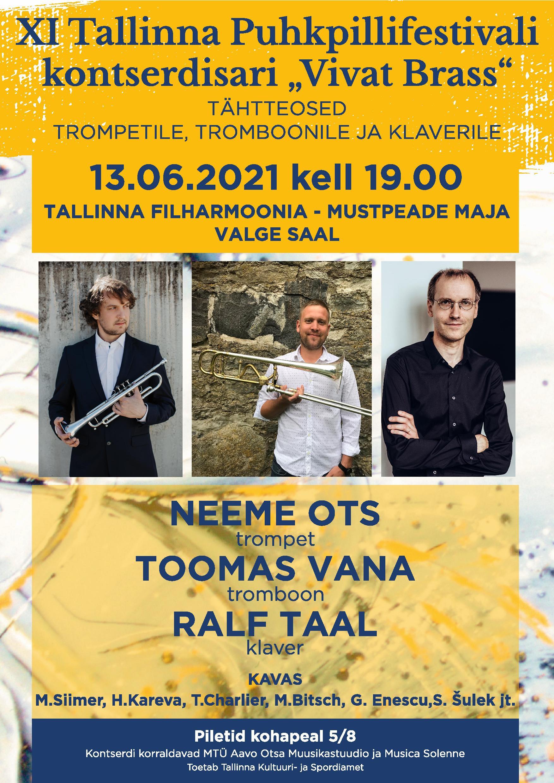 XI Tallinna Puhkpillifestivali kontserdisari ''Vivat Brass''