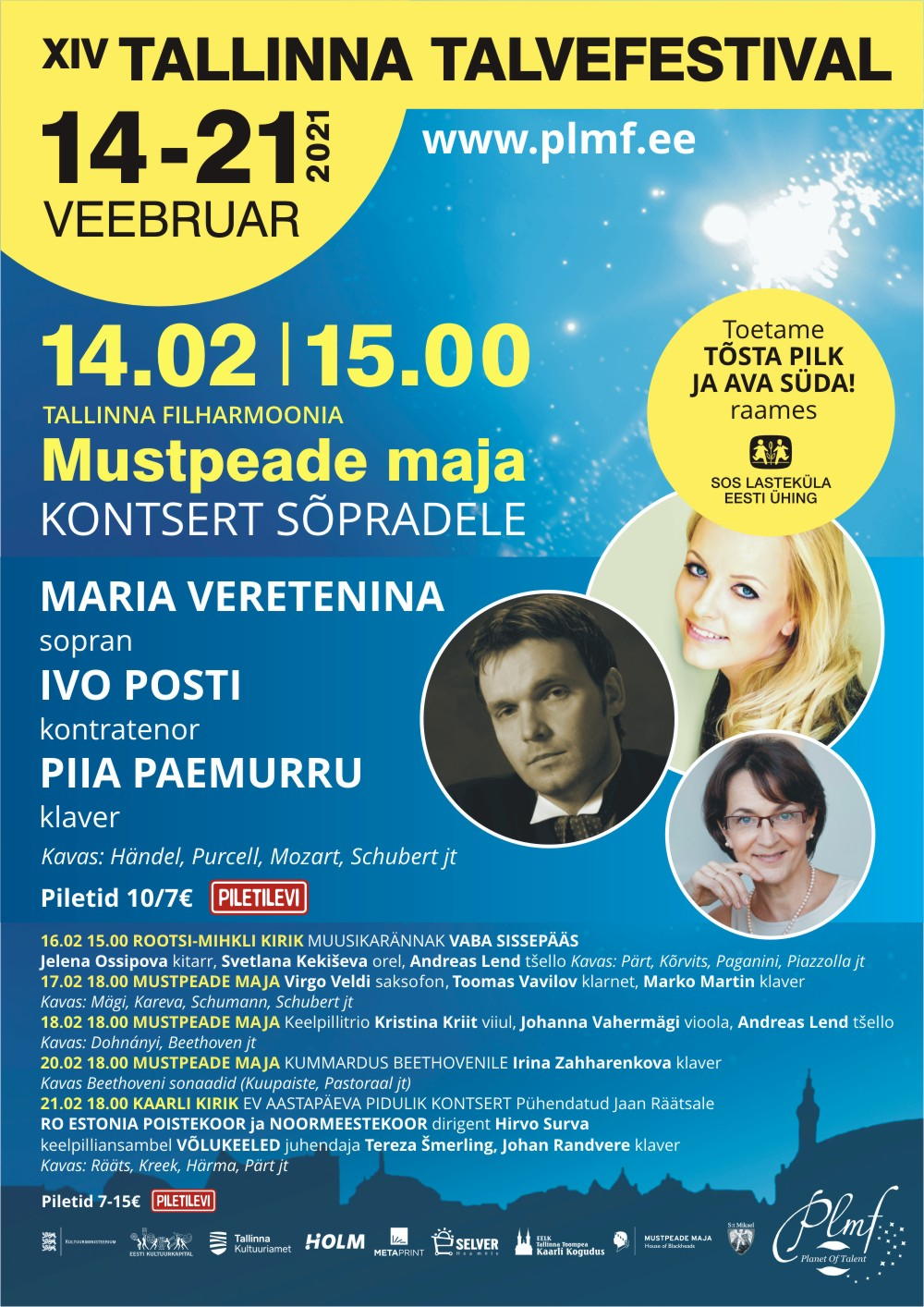 Maria Veretenina, Ivo Posti, Piia Paemurru - XIV Tallinna Talvefestival