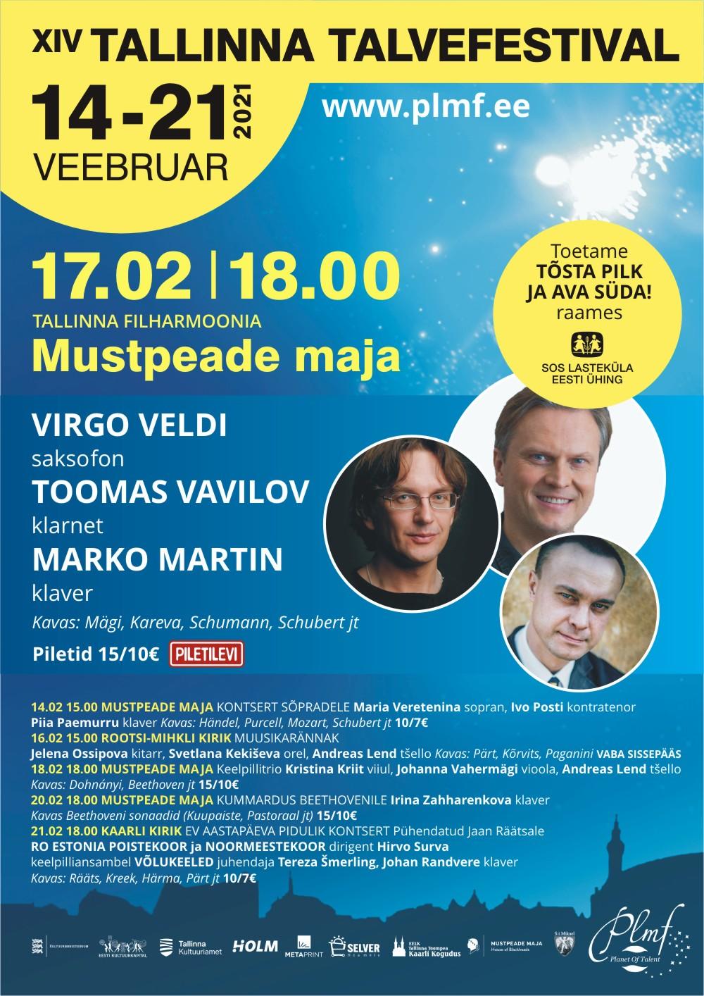 Virgo Veldi, Toomas Vavilov, Marko Martin - XIV Tallinna Talvefestival