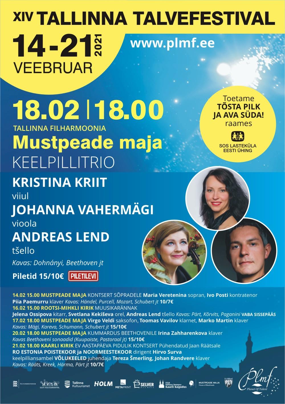 Kristina Kriit, Johanna Vahermägi, Andreas Lend - XIV Tallinna Talvefestival