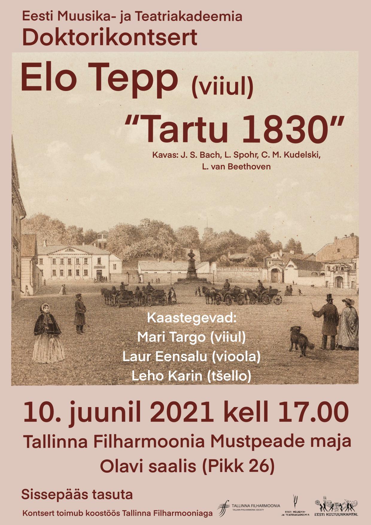 Eesti Muusika- ja Teatriakadeemia Doktorikontsert - Elo Tepp (viiul)