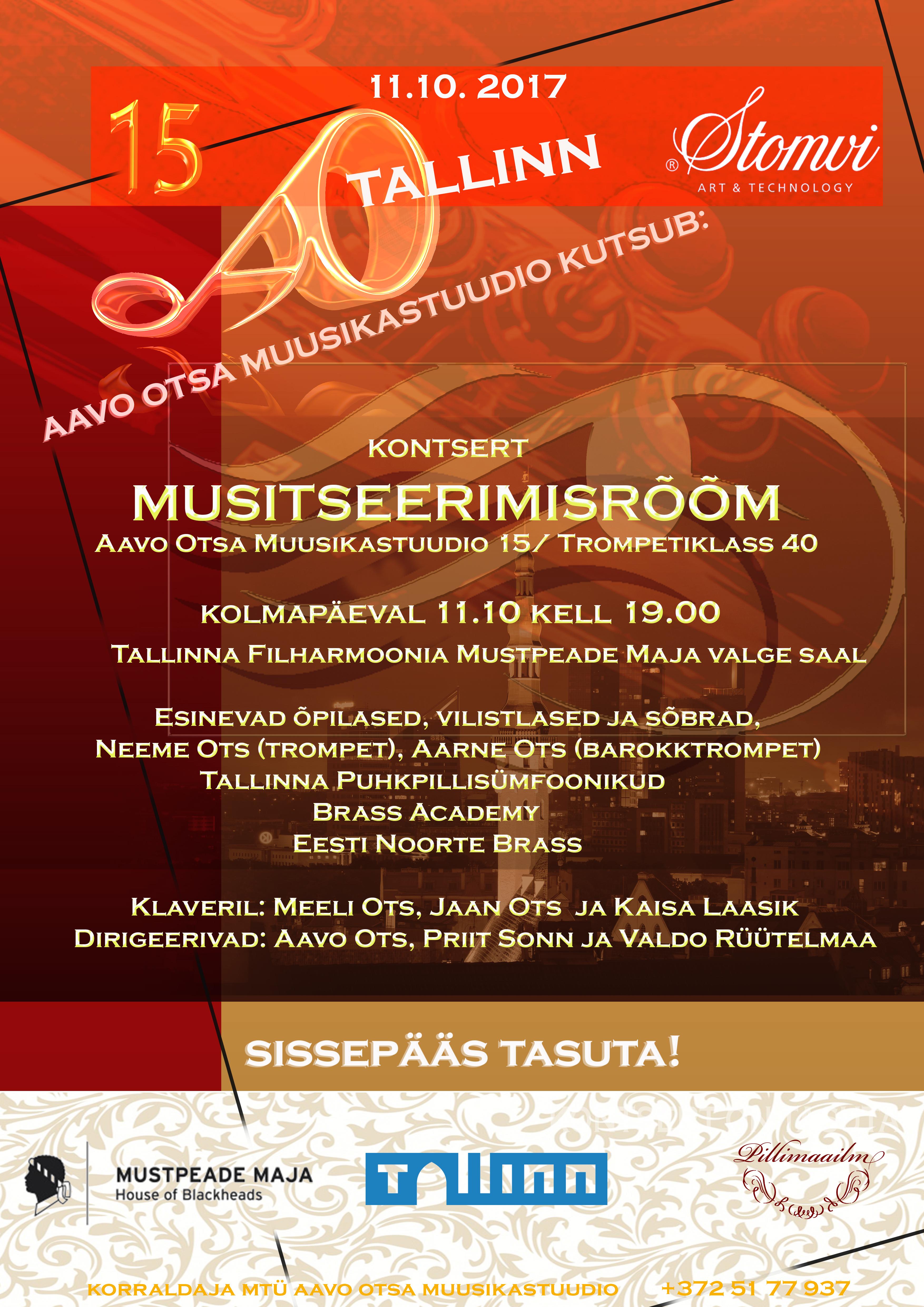 MUSITSEERIMISRÕÕM - Aavo Otsa Muusikastuudio 15/Trompetiklass 40
