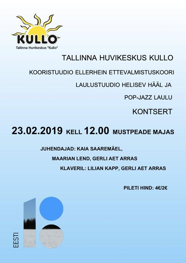 Kooristuudio Ellerhein ettevalmistuskoori laulustuudio Helisev Hääl ja pop-jazz laulu kontsert