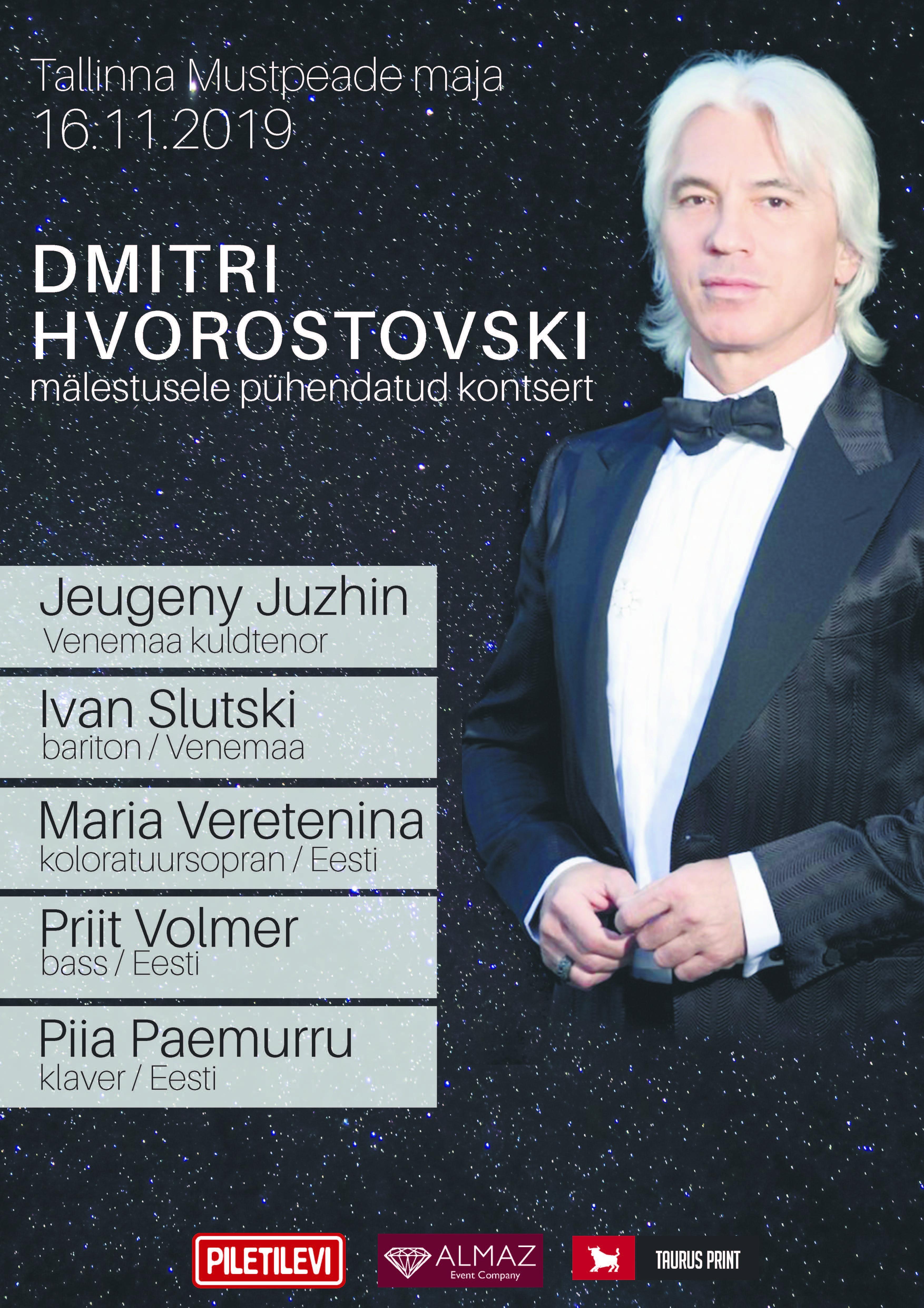 Dmitri Hvorostovski mälestusele pühendatud kontsert