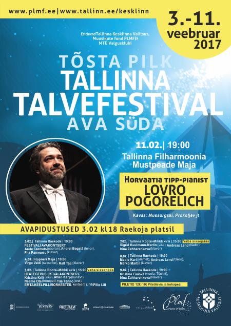 X Tallinna Talvefestival - Lovro Pogorelich (klaver, Horvaatia)