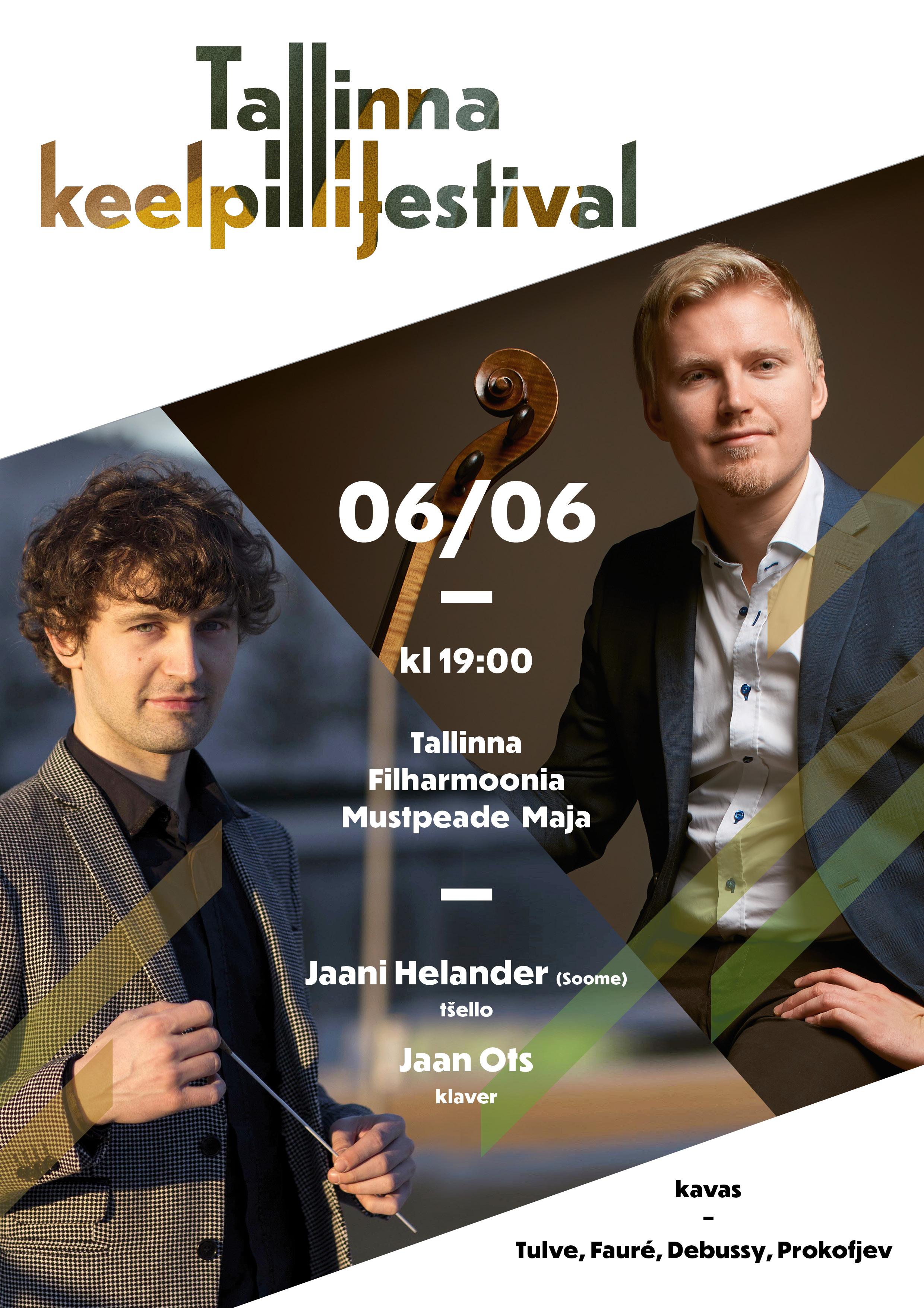 Jaani Helander (tšello, Soome), Jaan Ots (klaver) / Tallinna Keelpillifestival