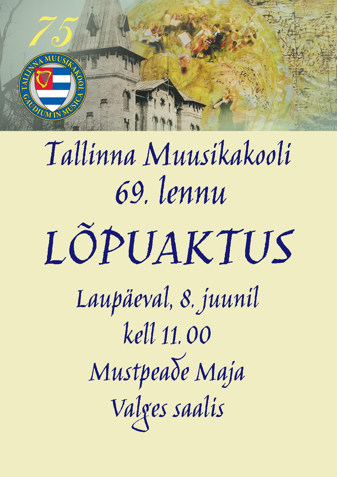 Tallinna Muusikakooli 69. lennu kontsert-aktus