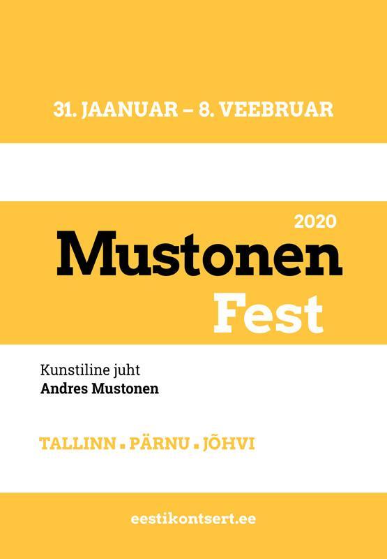 MustonenFest 2020. Eesti Rahvusmeeskoor, Israel Nachman (Iisrael), dir A. Mustonen
