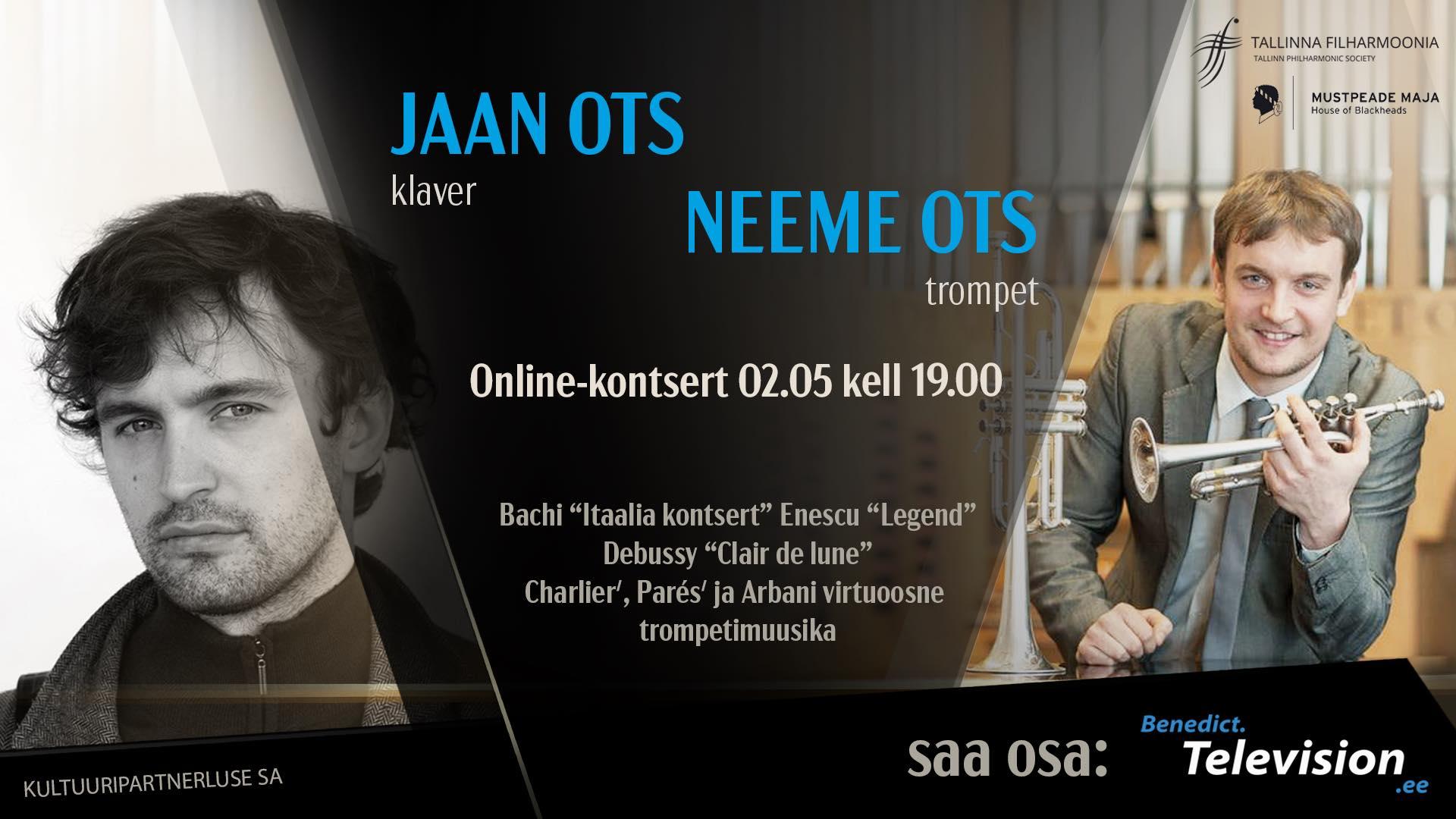 Jaan Ots (klaver) ja Neeme Ots (trompet) / Online-kontsert