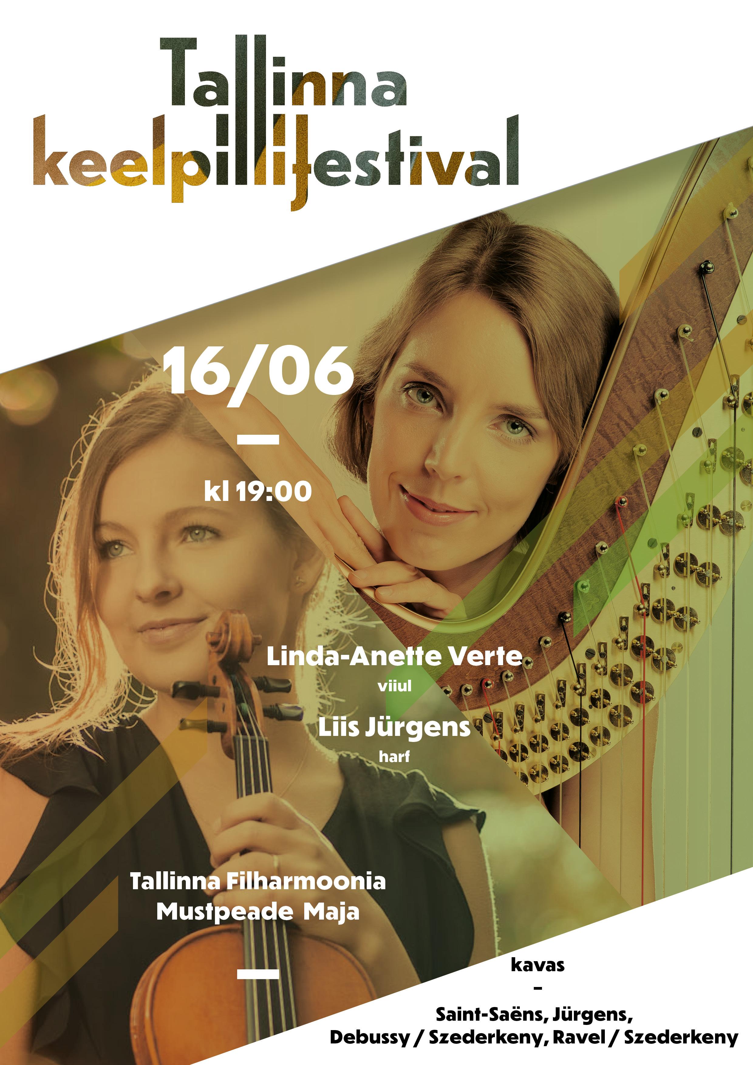 Linda-Anette Verte (viiul), Liis Jürgens (harf) / Tallinna Keelpillifestival