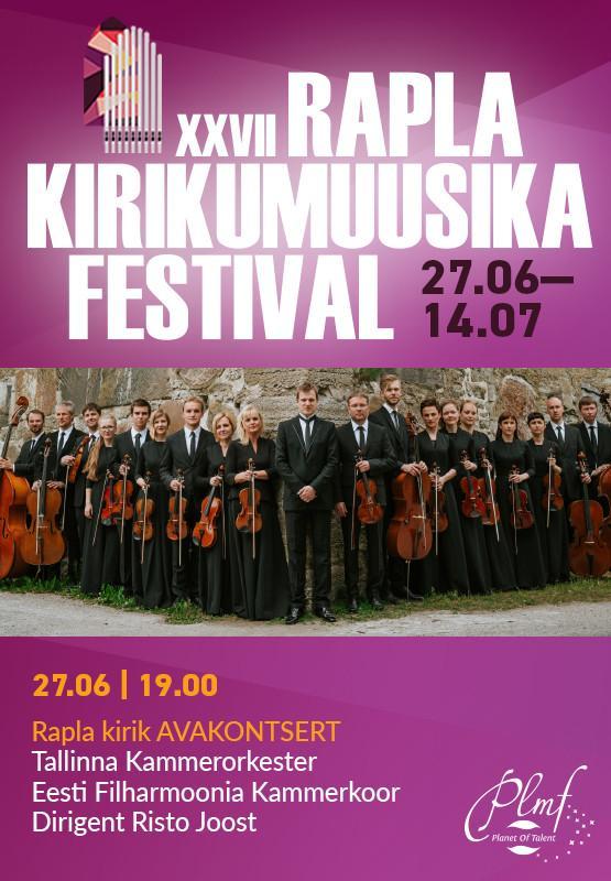 XVII Rapla kirikumuusika festivali avakontsert
